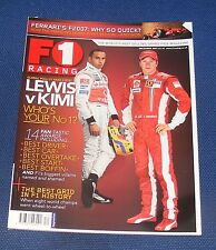 F1 RACING DECEMBER 2007 - LEWIS V KIMI WHO'S YOUR NUMBER ONE?