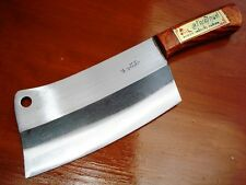 THAI KITCHEN KNIFE CLEAVER HIGH CARBON STEEL WOOD HANDLE CHOPPER CHEF COOKING 2