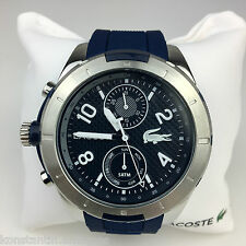 Lacoste Men's wrist watch Tonga multifunction Blue Navy Silicone Strap 2010761