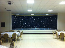 4m x 3m star cloth Black white LED STATIC Starcloth 4x3 4mtr x 3mtr