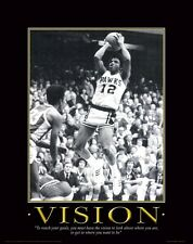 Iowa Hawkeye Basketball Motivational Poster Art Ronnie Lester Carver Arena MVP40