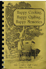 *FULTON NY 1990 LAKE COUNTRY QUILT GUILD COOK BOOK *HAPPY COOKING *NEW YORK RARE