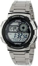 Casio AE1000WD-1A Mens Stainless Steel World Time Sports Watch AE-1000WD-1A