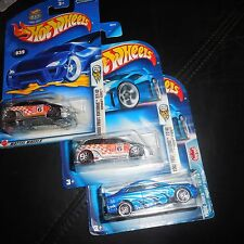 3 LOT Hot Wheels Honda Civic Si #184 Pride Rides Blue & 2003 FIRST EDITiON 27/42