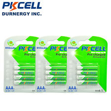 12 x Pre-charged AAA Rechargeable Batteries 850mAh 1.2V Ready2Use PKCELL