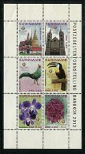 Suriname 1453, MNH, Birds Siamese Fireback,Channel-billed Toucan, 2013 x19758