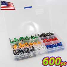 [600pc] 10-22AWG Bootlace Ferrule Electrical Crimp Cord Wire End Screw Terminals