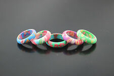 Fashion jewelry wholesale lots 99pcs charm colorful polymer clay rings AH241