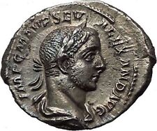 Severus Alexander 222AD Silver Ancient Roman Coin Equality Fairness i55497
