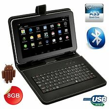 """32GB 9"""" inch Google Android 4.4 Quad Core Tablet PC WIFI Bundle Keyboard Case"""