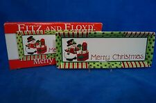 "FITZ  and FLOYD ""MERRY CHRISTMAS"" SNOWMAN SERVING TRAY - 2006 - MIB"