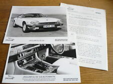 JAGUAR XJS 3.6 XJ SC 3.6 AUTOMATIC PRESS RELEASE AND PRESS PHOTOS 1987