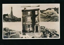 Lancashire BLACKPOOL advert hotel Langwith House Dickson Rd m/view 1934 RP PPC