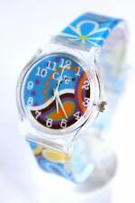 Core Designer Girls Watch Blue Floral Strap Multi-Colour Dial Analog All Plastic