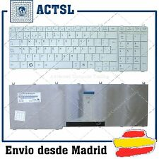 KEYBOARD SPANISH for TOSHIBA Satellite C650 C660 L650 L670 White