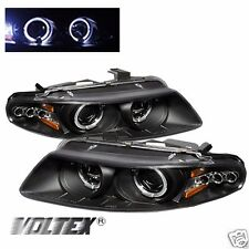 1997-2000 CHRYSLER SEBRING 2DR HALO LED PROJECTOR HEADLIGHTS LIGHTBAR BLACK