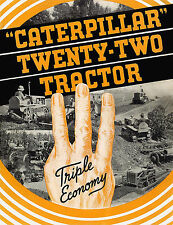 Caterpillar Twenty Two Tractor Sales Book 1930s