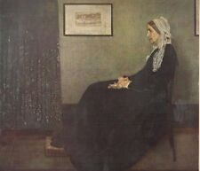 "1960 Art Print ""Whistler's Mother"" By James Whistler American Free Shipping"