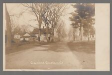 Real Photo Postcard Canton Center, Connecticut with Houses in View