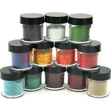 12pc DIY Velvet Flocking UV Powder Jumbo Size Manicure Deco Nail Art Tips #2 UK