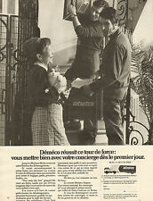 Publicité Advertising 1972  DEMECO déménagement Mme Michu