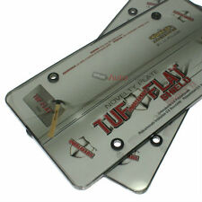 2 Smoke Tinted License Plate Tag Frame Covers Shield Protectors for Car-Truck