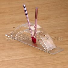 New ACRYLIC Pen Pencil Eyebrow Arc Display Stand Holder Rack Organizer