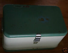 Vintage Retro Super Cool Original MINT GREEN Thermos Metal Cooler with Tray