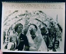 1970 SAINT TROPEZ PRINCESS GRACE OF MONACO IN WEDDING PARTY OF MICHEL RAIMON