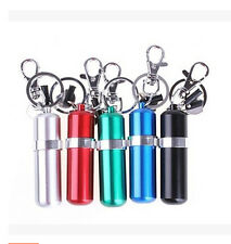 Portable Stainless Steel Alcohol Burner Lamp With Keychain Keyring Colorful OZ