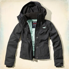NWT Hollister Abercrombie Women All Weather Fleece Lined Jacket Coat - Grey - XS