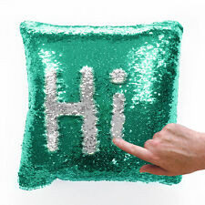 SEQUIN MERMAID SPARKLE GLITTER CUSHION COVER RED SILVER BLACK GOLD PINK BLUE