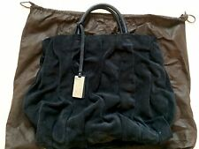 Coccinelle Goodie Bag Edition 2010 Navy Blue Suede Large Bag Purse