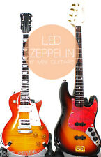 Miniature Guitar Led Zeppelin Jimmy Page and John Paul Jones Bass Super Mini 6""