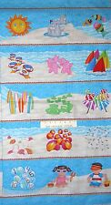 """24"""" Fabric Panel - 1,2,3 Down by the Sea Beach Nautical - Henry Glass Cotton"""