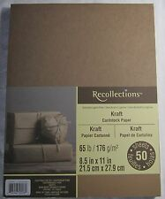 "Recollections Cardstock Paper 8 1/2"" X 11"" 50 Sheets Kraft Brown single color"