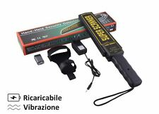 METAL DETECTOR SCANNER SECURITY PORTATILE RICARICABILE ! Professionale