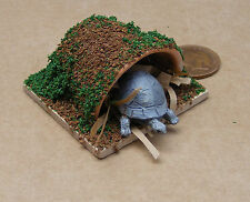 1:12 Scale Grey Tortoise At Home Dolls House Miniature Garden Pet Accessory