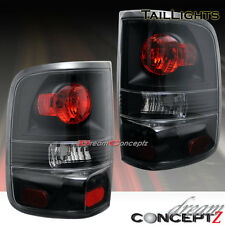 2004-2008 Ford F-150 F150 Pickup truck Black housing tail lights lamps pair L+R