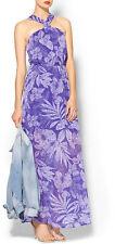 Sabine Azalea Tie Open Back Purple Maxi Dress XS NWT MSRP $99