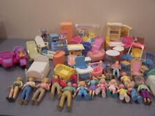 Huge Lot of Fisher Price Loving Family Dollhouse Furniture People Playskool mix