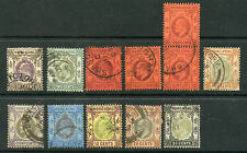 Hong Kong 71-79 VF used first KEVII short set up to 30c, used with pair. CV $53+