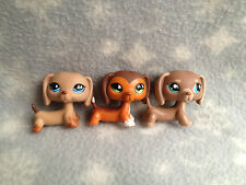 Littlest Pet Shop #518 675 1751 set of three dachshounds including savvy