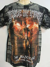 NEW - CRADLE OF FILTH MANTICORE ALL OVER BAND / CONCERT / MUSIC T-SHIRT MEDIUM