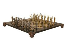 New Poseidon Chess Set Includes Zinc Chess Pieces Bronze Board and Storage Box