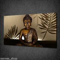 ETHNIC GOLD BUDDHA RELLIGIOUS WALL ART CANVAS PRINT PICTURE POSTER READY TO HANG