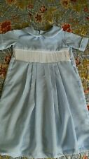 SMOCKING READY TO SMOCK  NB-3 MO. BOY'S GOWN-NB-3 MONTHS - BLUE GINGHAM CHECK