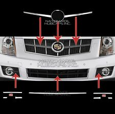 fits 10-12 Cadillac SRX CHROME Snap On Grille Overlay Trim Insert Top & Bottom