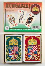 Boxed Double Deck of HUNGARIA Playing Cards by Piatnik - History of Hungary