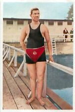 Emil Rausch GERMANY SWIMMING USA ST. LOUIS OLYMPIC GAMES 1904 CARD IMAGE 1936